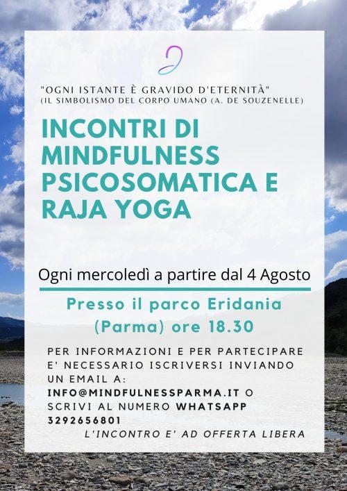 Incontri Parco Eridania Mindfulness Psicosomatica facebook