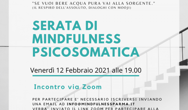 Serata mindfulness 12 Febbraio psicosomatica Instagram